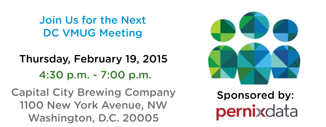 DC VMUG Meeting February 19th with Pernix Data