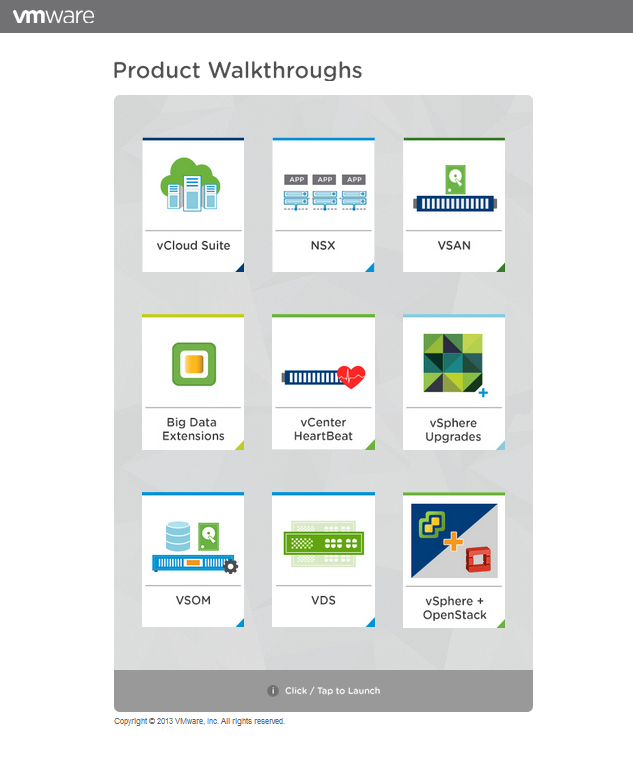 VMware Product Walkthroughs (PWT)