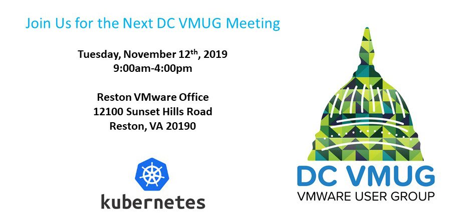 November 12th 2019 DC VMUG Meeting – KubeAcademy: Learning Docker and Kubernetes